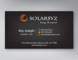 #79 para Business Card Design for SolarSyz por matau88