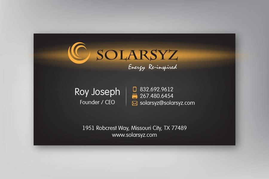Inscrição nº                                         64                                      do Concurso para                                         Business Card Design for SolarSyz