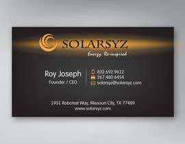 #64 para Business Card Design for SolarSyz por matau88