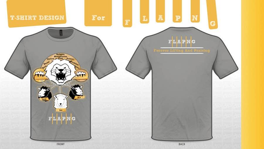 Inscrição nº                                         87                                      do Concurso para                                         T-shirt Design for F.L.A.P.N.G. (forever lifting and praising)