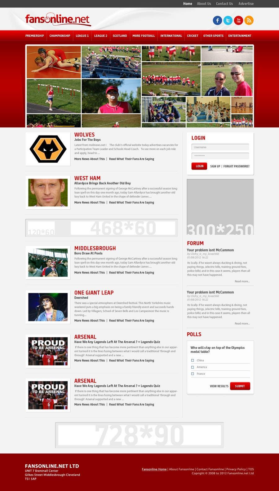 Inscrição nº                                         22                                      do Concurso para                                         Website Design for FansOnline.net Ltd