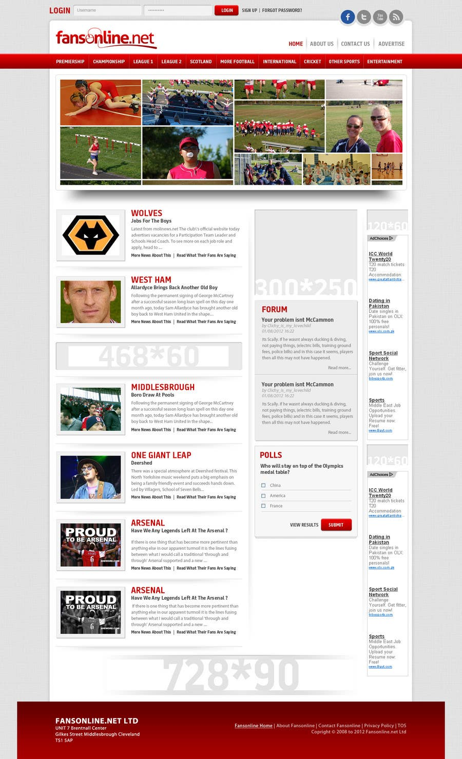 Inscrição nº                                         29                                      do Concurso para                                         Website Design for FansOnline.net Ltd