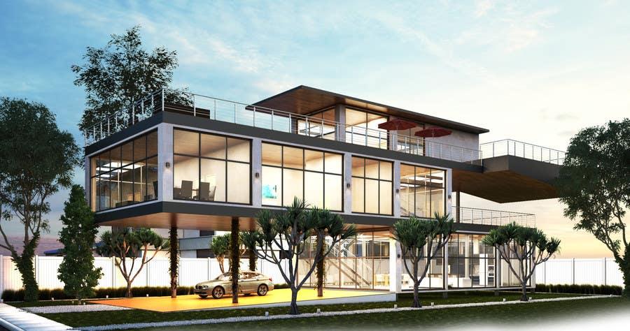 Entry 74 By Davisn85 For Ultra Modern Town House