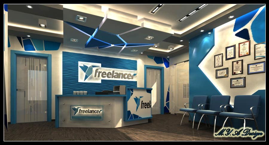 Contest Entry #42 For 3D Design Of Freelancer Office Reception Area