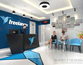 #2 For 3D Design Of Freelancer Office Reception Area By Ahmedzaghloul89