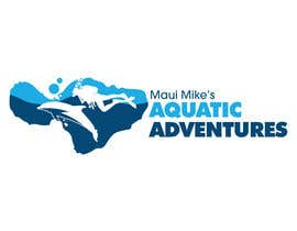 #132 para Logo Design for Maui Mikes Aquatic Adventures por marumaruya2010