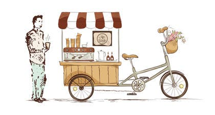 Image of                             Design an image for a caffee-bik...