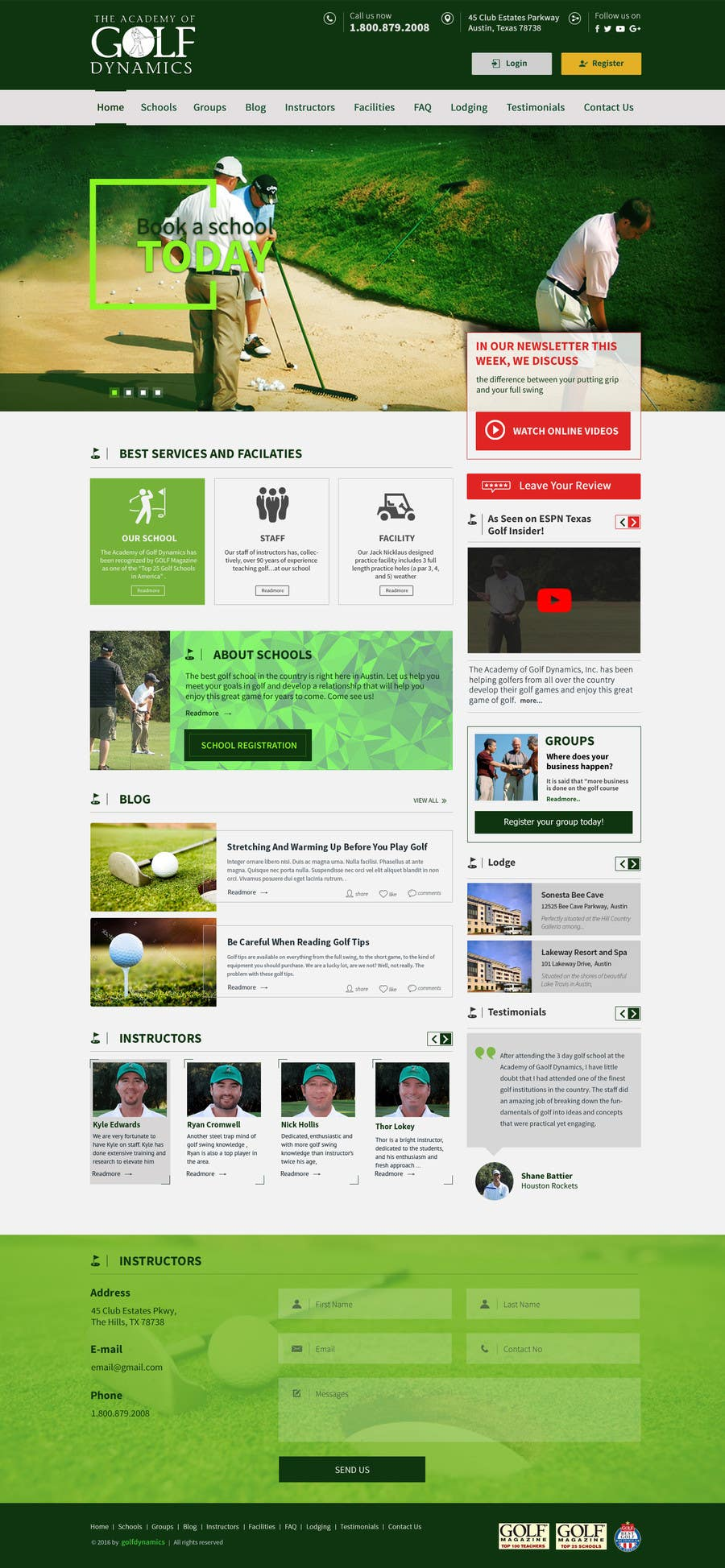 Entry #46 by smartitservices for Design a Website Mockup for Golf