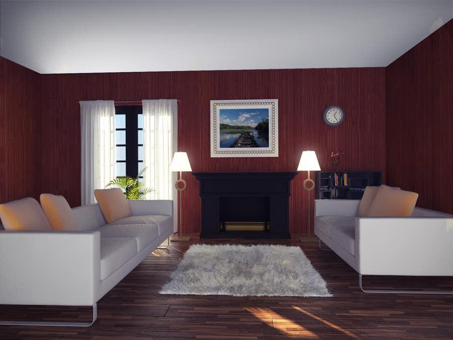 Inscrição nº                                         28                                      do Concurso para                                         Transform a bad hand drawing into a quality graphic-Two Living Rooms (2 styles:Log Cabin and Modern)