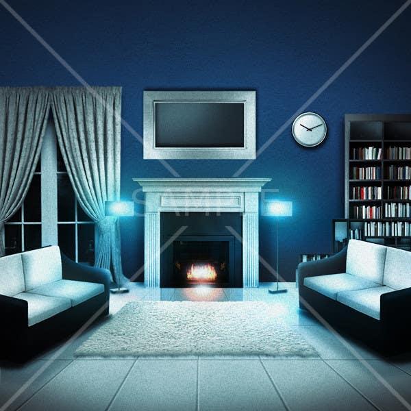 Inscrição nº                                         19                                      do Concurso para                                         Transform a bad hand drawing into a quality graphic-Two Living Rooms (2 styles:Log Cabin and Modern)