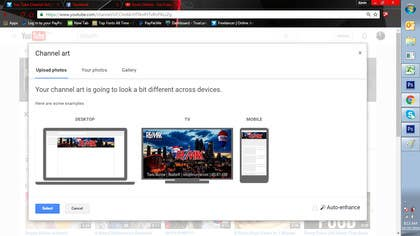 Image of                             You Tube Channel Art
