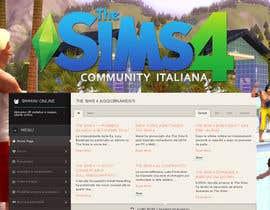 program23 tarafından Design a Logo and background for The Sims 4 thesims4.it için no 65