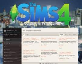 program23 tarafından Design a Logo and background for The Sims 4 thesims4.it için no 66
