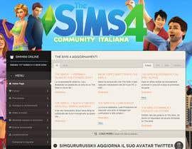 aminou1 tarafından Design a Logo and background for The Sims 4 thesims4.it için no 56