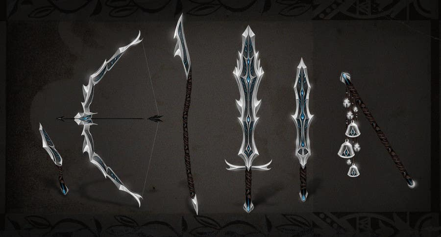 Entry 7 By Ingun For Weapons Sword Dagger Bow Concept Arts