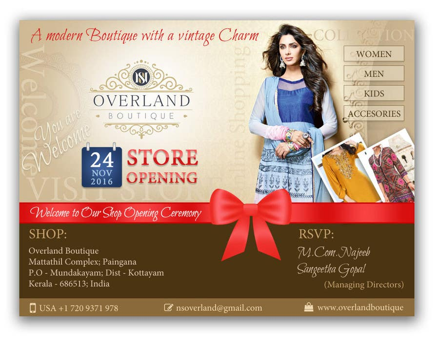 Entry 48 By Suart For Online Clothing Boutique Flyer OVERLAND