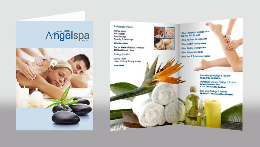 Brochure Spa thiết kế theo hướng hiện đại