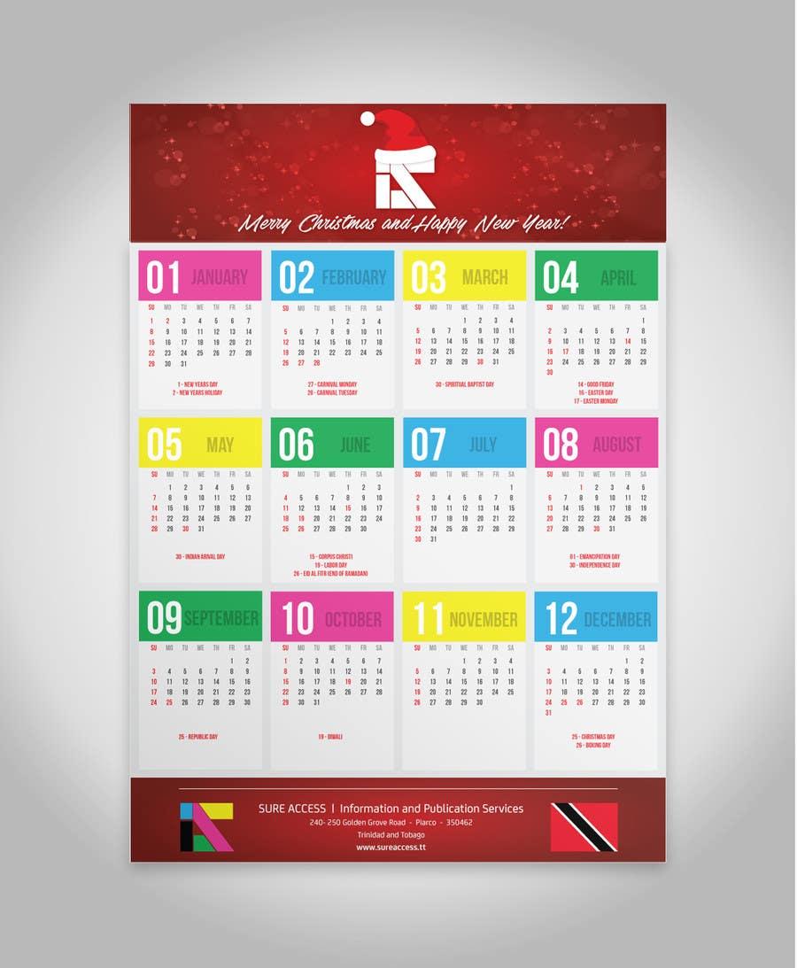 Конкурсная заявка №17 для I need some Graphic Design for a 2017 Calendar