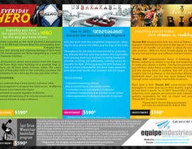 #24 cho Flyer Design for Equipe Industries bởi pantoneeye