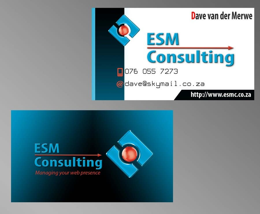 Bài tham dự cuộc thi #                                        13                                      cho                                         Design Business Cards for ESM Consulting