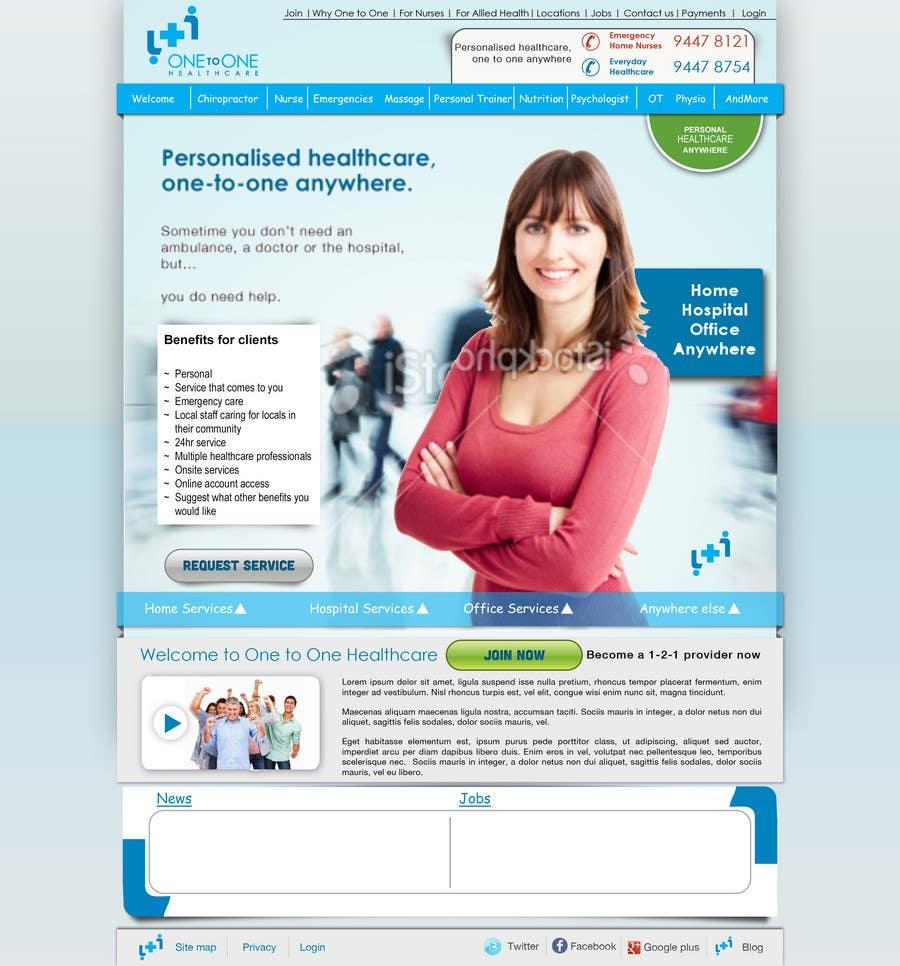 Konkurrenceindlæg #                                        21                                      for                                         WEBPAGE FINISH OFF Design based on already designed layout