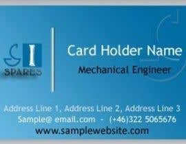 #154 для Business Card Design for SI - Spares от usmanvardag