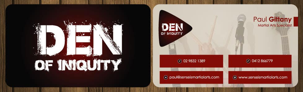 Entry 119 by petersamajay for design some business cards rock contest entry 119 for design some business cards rock band den of iniquity colourmoves