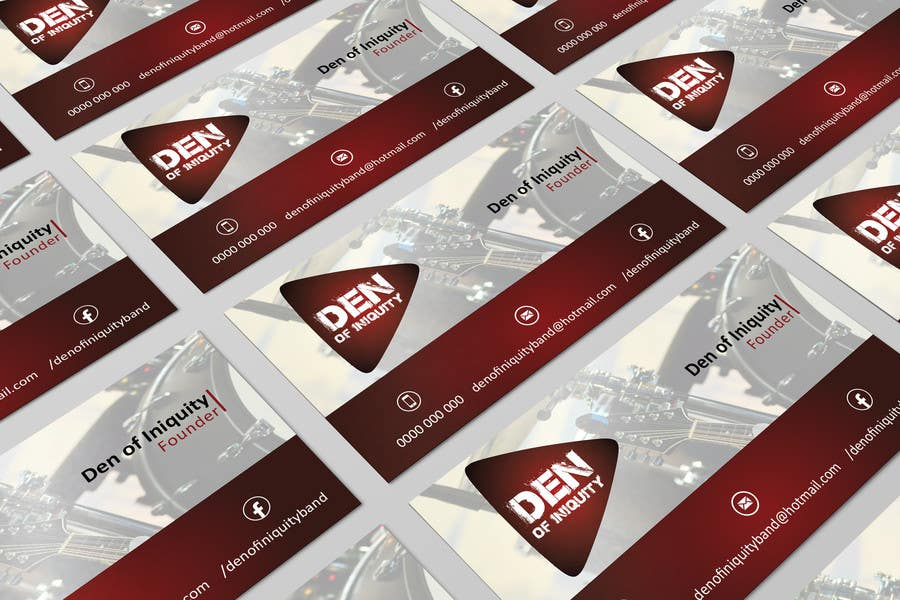Entry #54 by AllGraphicsMaker for Design Some Business Cards - Rock ...