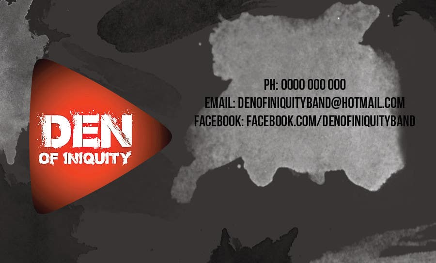 Entry 1 by dimitryaujour for design some business cards rock band contest entry 1 for design some business cards rock band den of iniquity colourmoves
