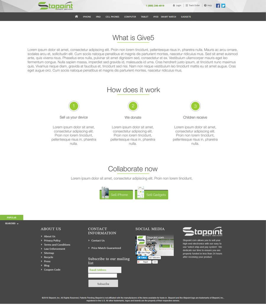 Entry #4 by AquimaWeb for Design a donation template and page to put ...