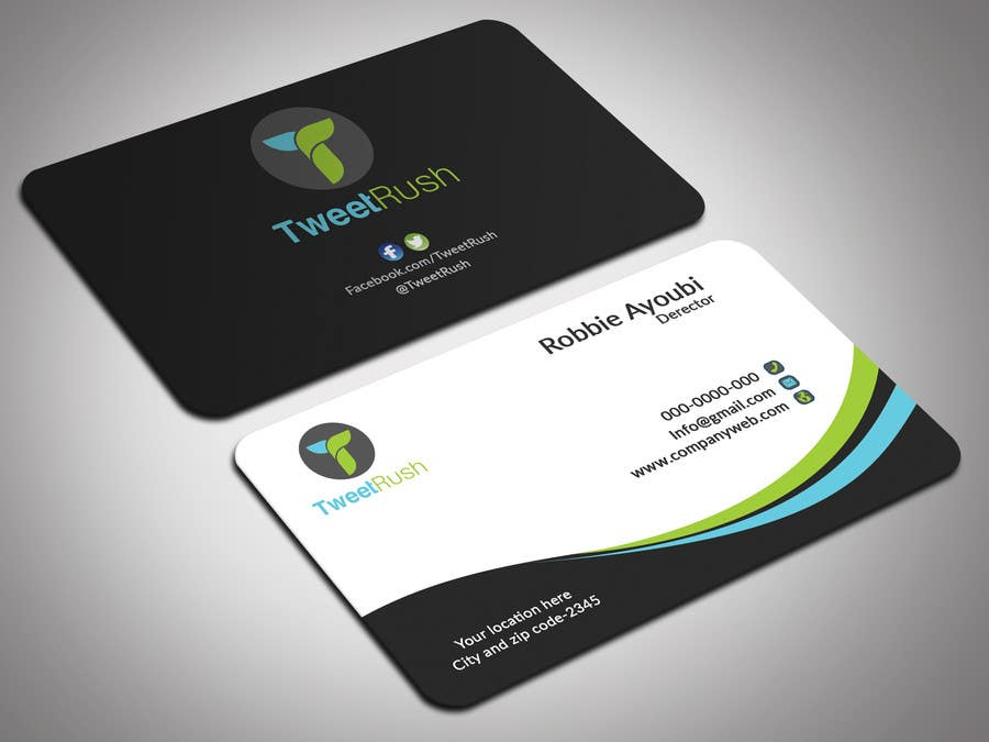 Entry 62 by itopup777 for design some business cards for tweetrush business card reheart