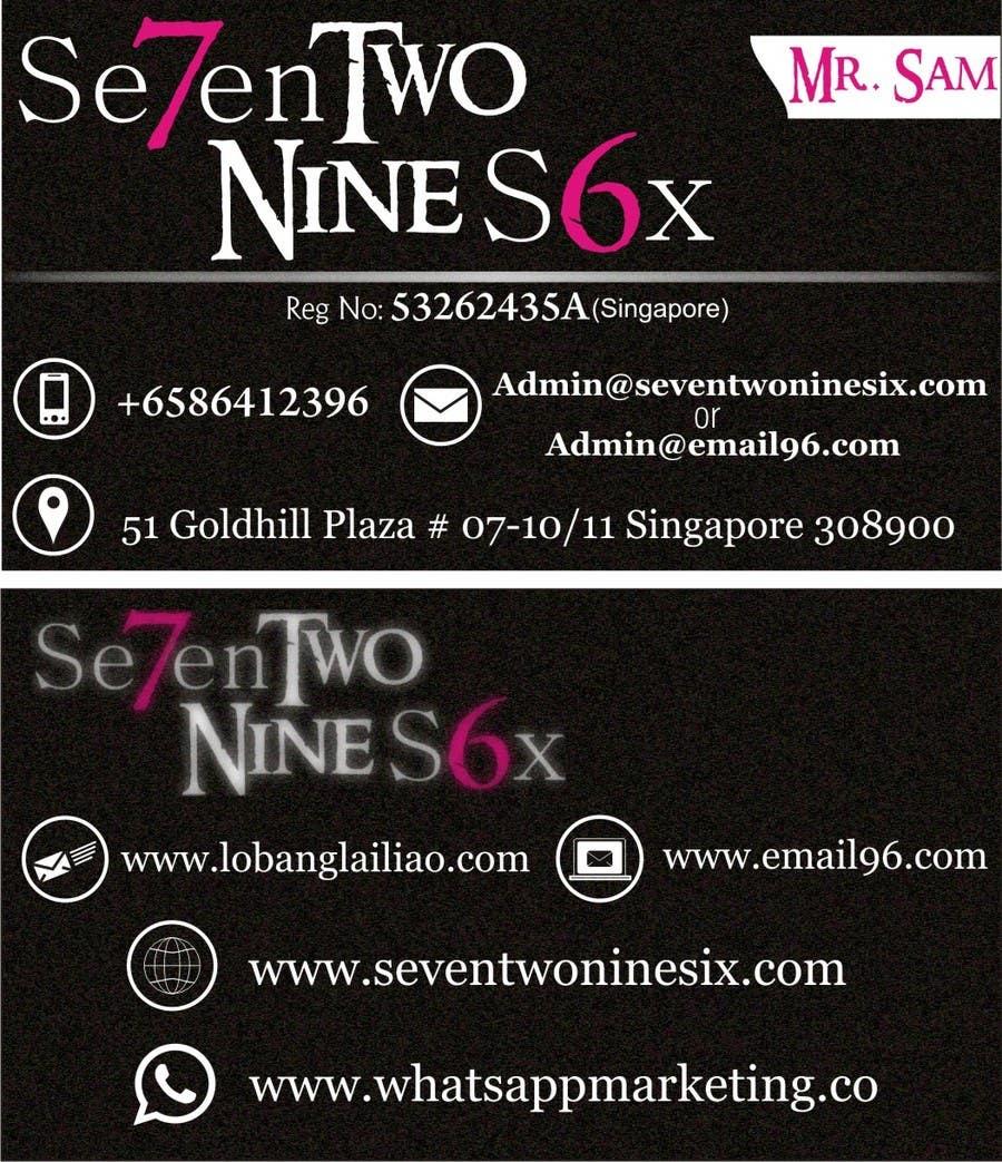 Penyertaan Peraduan #                                        10                                      untuk                                         Design some Business Cards for SevenTwoNineSix