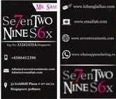 Graphic Design Entri Peraduan #17 for Design some Business Cards for SevenTwoNineSix