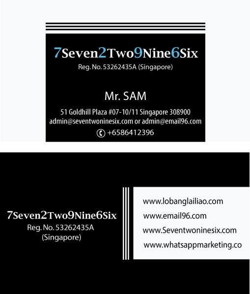 Penyertaan Peraduan #                                        19                                      untuk                                         Design some Business Cards for SevenTwoNineSix