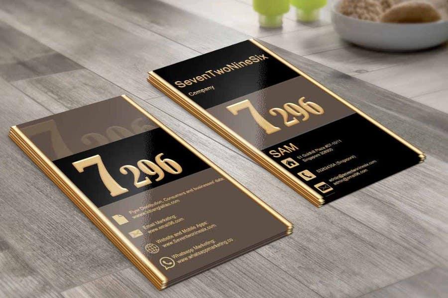 Penyertaan Peraduan #                                        9                                      untuk                                         Design some Business Cards for SevenTwoNineSix