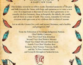 #10 for (fsin) Design a christmas message / ad for an Indigenous entity by Jasmine029