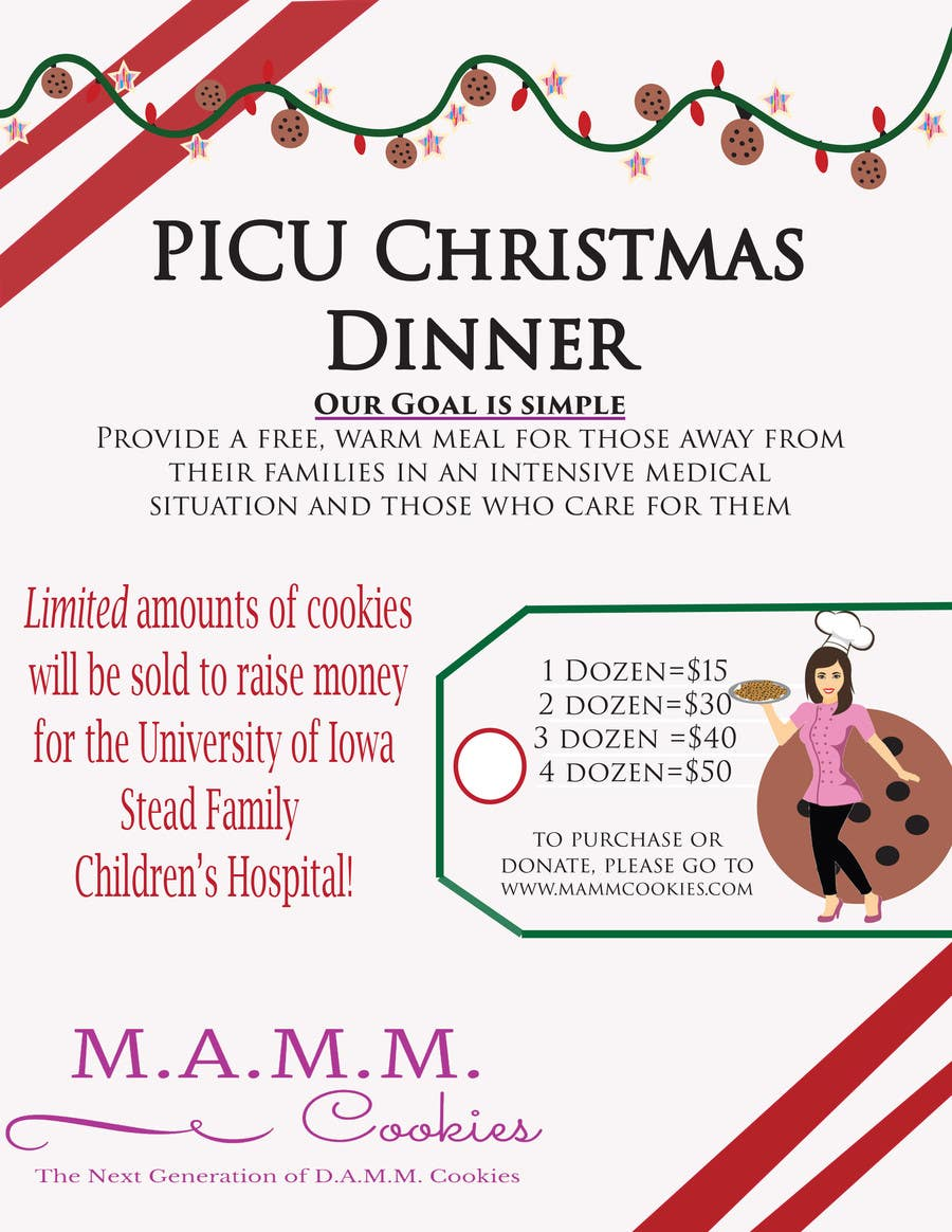 Christmas Fundraiser Flyer.Entry 11 By Katyrougas For Mamm Cookie Fundraiser Flyer For
