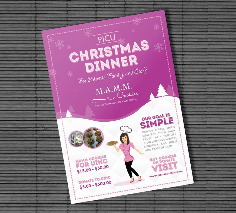 Christmas Fundraiser Flyer.Entry 23 By Adhitya7393 For Mamm Cookie Fundraiser Flyer