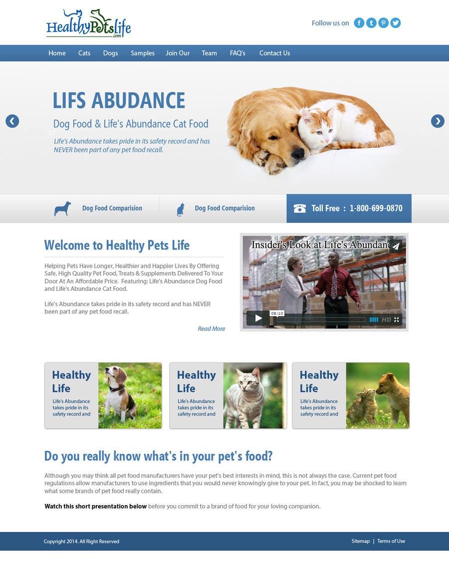 Penyertaan Peraduan #                                        21                                      untuk                                         Design a Wordpress Mockup for Pet Food Website