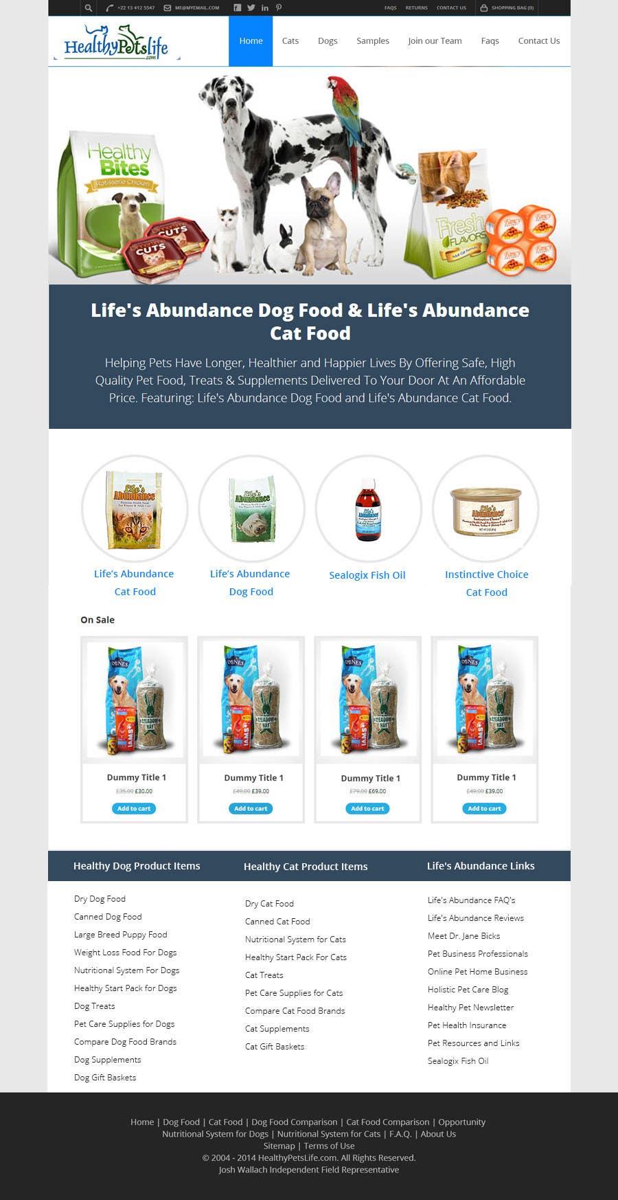 Penyertaan Peraduan #                                        23                                      untuk                                         Design a Wordpress Mockup for Pet Food Website