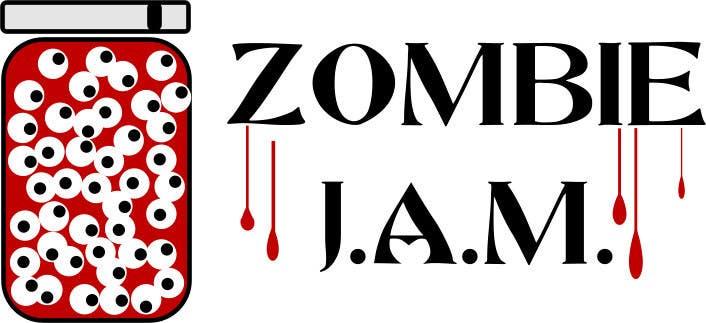 """Penyertaan Peraduan #                                        1                                      untuk                                         Design a T-Shirt for a kids' band called """"Zombie J.A.M."""""""