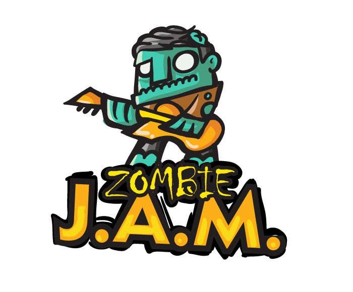 """Penyertaan Peraduan #                                        8                                      untuk                                         Design a T-Shirt for a kids' band called """"Zombie J.A.M."""""""