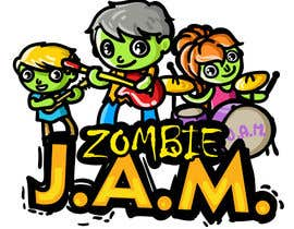 "#15 untuk Design a T-Shirt for a kids' band called ""Zombie J.A.M."" oleh MatiasDC"