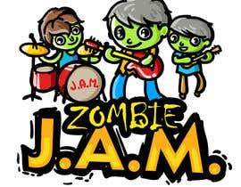 "#16 untuk Design a T-Shirt for a kids' band called ""Zombie J.A.M."" oleh MatiasDC"