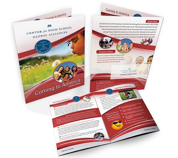 Inscrição nº 17 do Concurso para Brochure Design for Center for High School Global Alliances