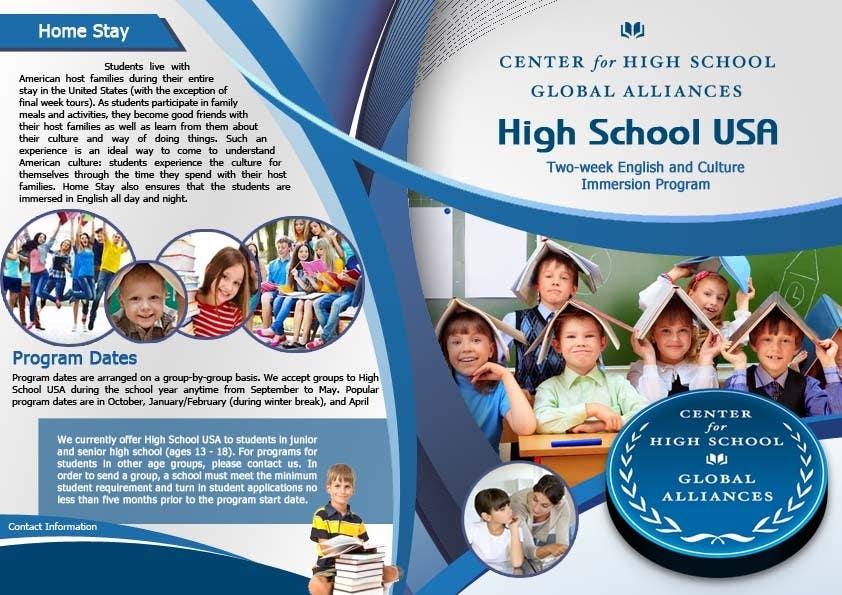 Kilpailutyö #31 kilpailussa Brochure Design for Center for High School Global Alliances
