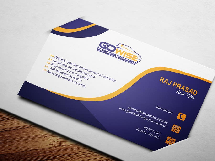 Entry #70 by rajiurrs for Design some Business Cards for a Driving ...