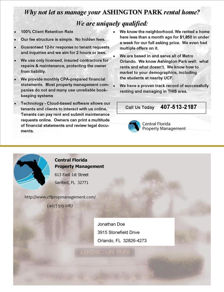#22 for Ashington Park Flyer Design for Central Florida Property Management by newnumber2