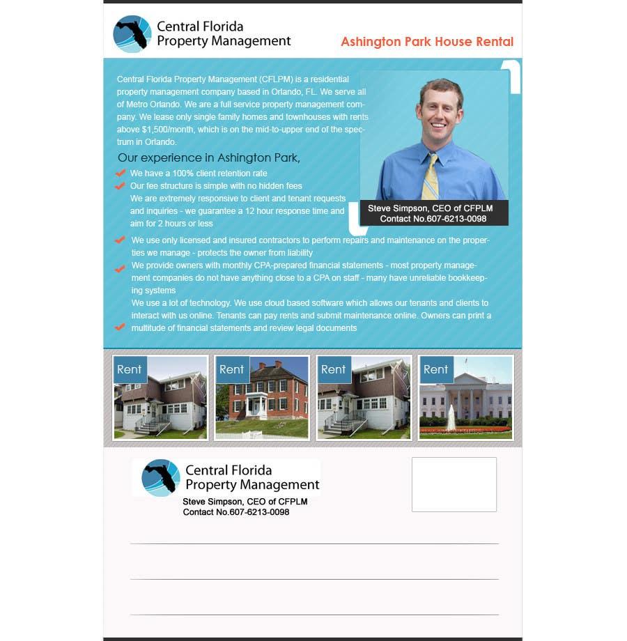 #62 for Ashington Park Flyer Design for Central Florida Property Management by rajibdesigner900
