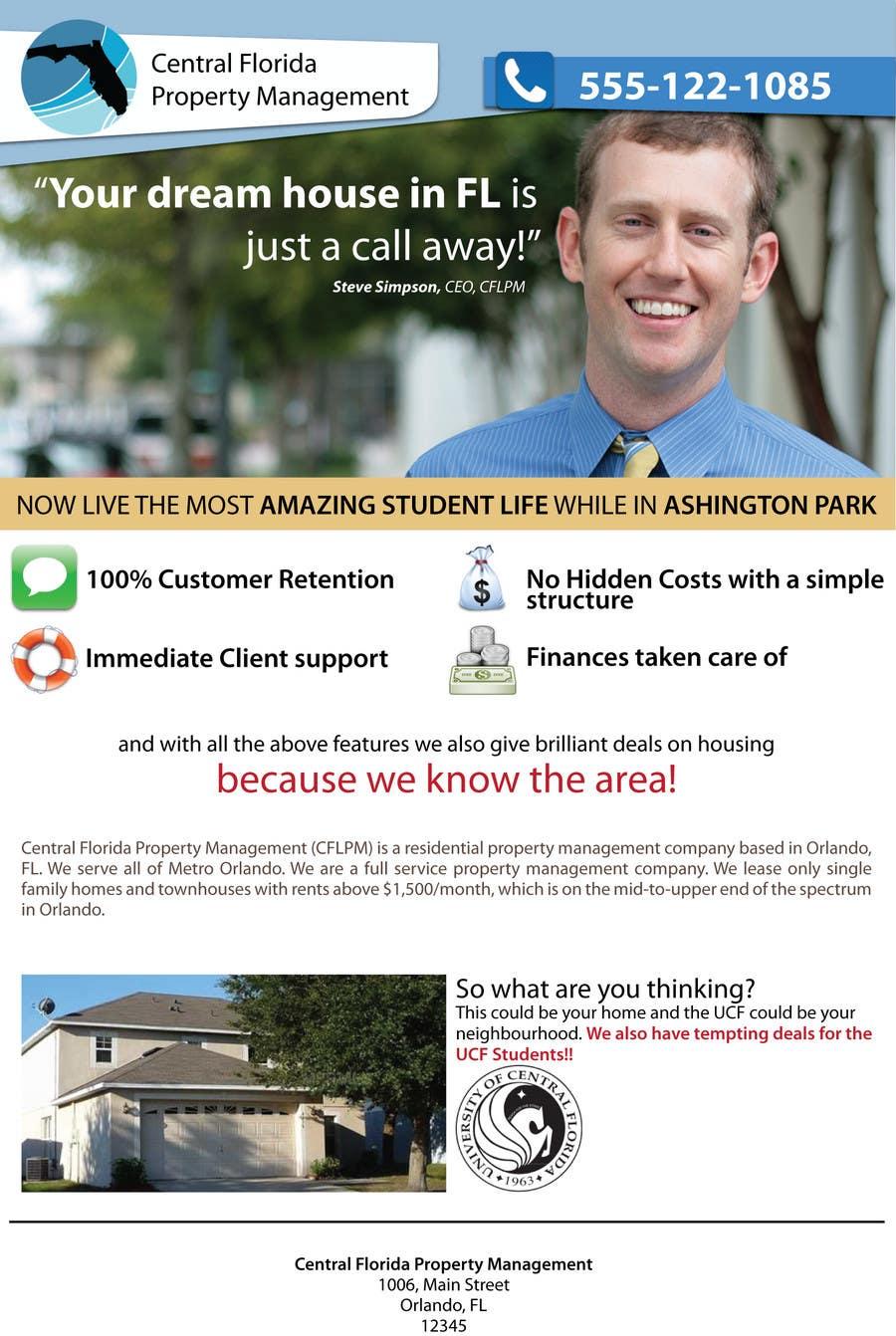 #7 for Ashington Park Flyer Design for Central Florida Property Management by harshhede